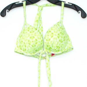 Victorias Secret Green Bikini Top Womens 34C A2